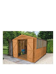 forest-8-x-12ft-double-door-6-window-overlap-dip-treated-apex-shed-with-optional-assembly