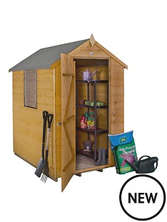 forest-6-x-4ft-sinlge-door-1-window-shiplap-dip-treated-apex-shed-with-optional-assembly