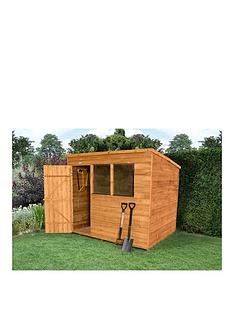 forest-8-x-6ft-single-door-2-window-overlap-dip-treated-pent-shed-with-optional-assembly