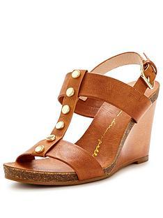 moda-in-pelle-parolanbspstudded-tan-wedge-sandal