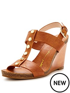 moda-in-pelle-parolanbspstudded-tan-wedge-sandal