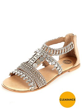 river-island-embellished-flat-gladiator-sandal