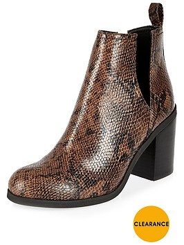 river-island-snake-print-cut-out-heeled-ankle-boot