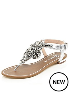 river-island-embellished-flat-sandals