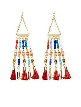 v-by-very-ethnic-bead-amp-tassel-detail-earrings