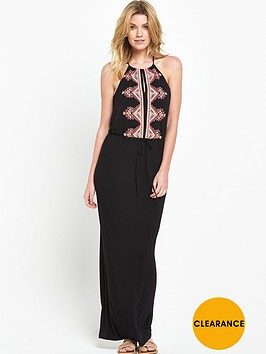v-by-very-embroidered-front-detail-maxi-dress