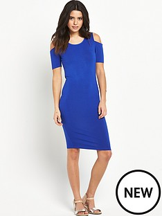 v-by-very-jersey-cold-shoulder-midi-dress