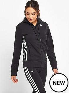 adidas-essentials-mid-3-stripes-hooded-top-black