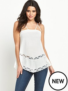 v-by-very-hankynbsphem-lace-trim-caminbsptop