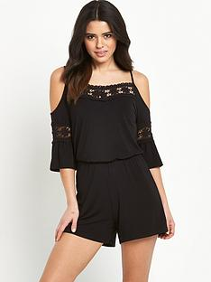 v-by-very-crochet-trim-cold-shoulder-playsuitnbsp