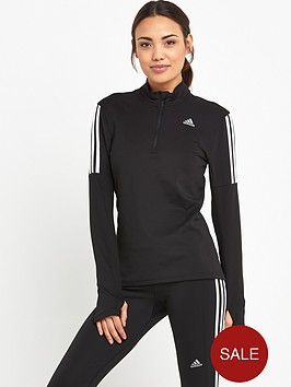 adidas-response-long-sleeve-zip-top-black