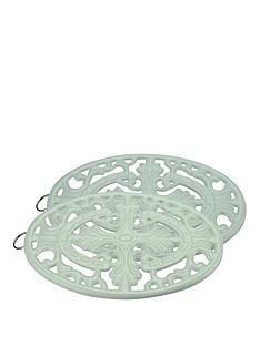 apollo-set-of-2-cast-iron-trivets-ndash-mint-green
