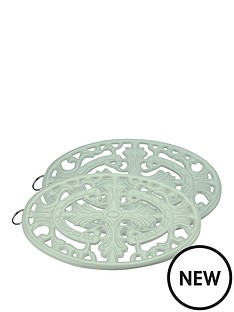 apollo-set-of-2-cast-iron-trivets-ndash-mint-green
