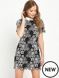 v-by-very-mono-lace-shift-dress