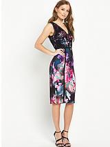 Ladder Lace Print Dress