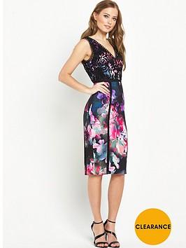 v-by-very-ladder-lace-print-dress