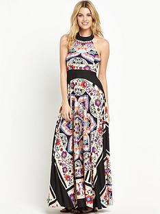 v-by-very-petite-scarf-print-maxi-dress