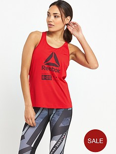reebok-os-ac-zoned-tank-red