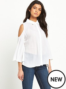 v-by-very-crinkle-cold-shoulder-shirt