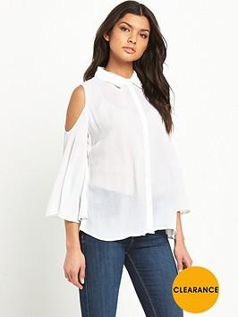 v-by-very-crinkle-cold-shoulder-shirt