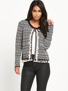 v-by-very-pomnbsppomnbsptassel-pattern-knitted-jacketnbsp