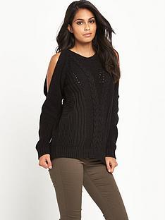 v-by-very-patchwork-pattern-cold-shoulder-jumpernbsp