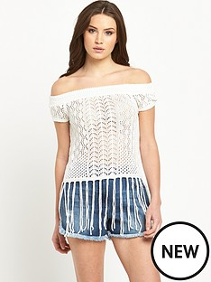 v-by-very-crochet-bardot-tassel-top
