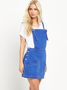 v-by-very-denim-pinafore-mini-dress