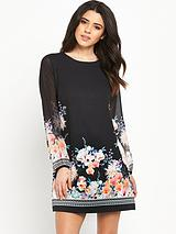 LS Floral Shift Dress
