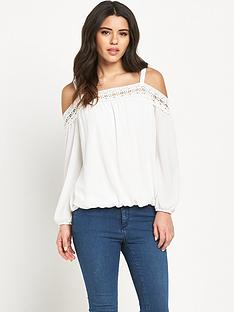 lipsy-lace-cold-shoulder-bardot-blouse