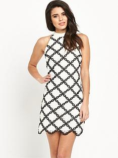 lipsy-ariananbspgrandenbspmono-lace-shift-dress