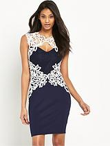 Lace Artwork Bodycon Dress