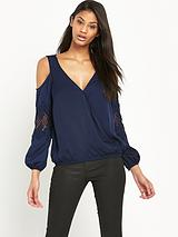 Lace Wrap Blouse