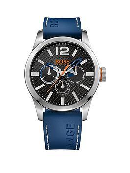 hugo-boss-paris-blue-strap-black-chronograph-dial-gents-watch