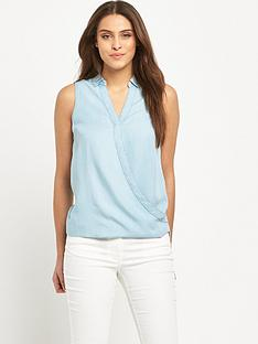 v-by-very-sleeveless-chambray-wrap-blousenbsp