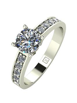 Moissanite Moissanite Lady Lynsey 9Ct Gold 1Ct Total Round Brilliant  ... Picture