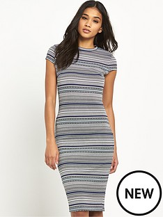 river-island-jacquard-stripe-bodycon-dress