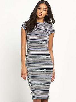 river-island-jacquard-stripe-bodycon-dress