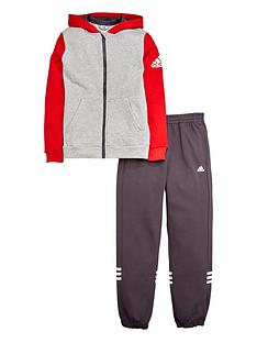 adidas-adidas-older-boys-fleece-grey-hojo-suit