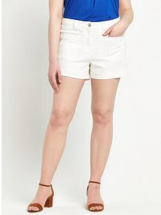 so-fabulous-denim-pocket-detail-shorts-white
