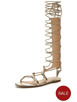 v-by-very-metallic-gladiator-tie-up-sandal