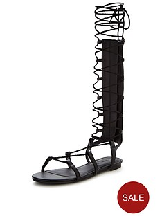 v-by-very-grovener-metallic-gladiator-tie-up-sandalnbsp