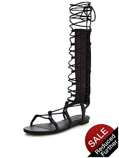 v-by-very-grovener-metallic-gladiator-tie-up-sandalnbsp