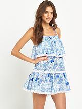 Floral Smock Beach Dress