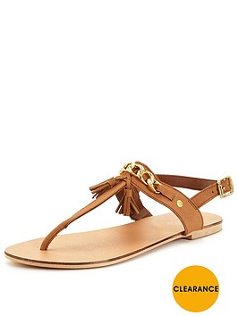 v-by-very-rock-chain-detail-toe-post-leather-sandal