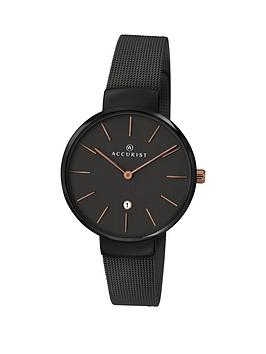accurist-milanese-black-bracelet-ladies-watch