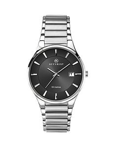 accurist-contemporary-stainless-steel-black-dial-gents-watch