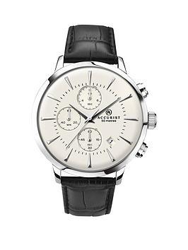 accurist-vintage-chronograph-black-strap-gents-watch