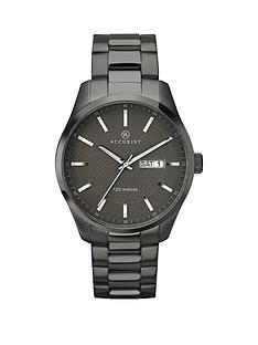 accurist-contemporary-gun-metal-bracelet-gents-watch