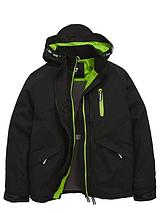 Boys Double Tech Zip Jacket with Fleece Lining